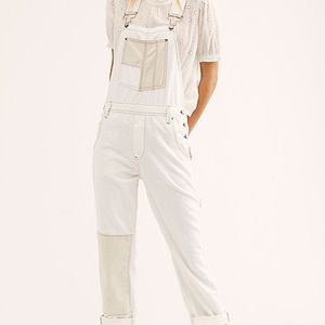Free People Carpenter's patch overalls